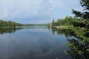 Mooi uitzicht onderweg omgeving Hällefors