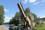 Spoorbrug bij Långbron