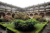 Binnentuin van de universiteit van Santiago