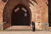 Onze 'gids' bij Monasterio de Valvanera